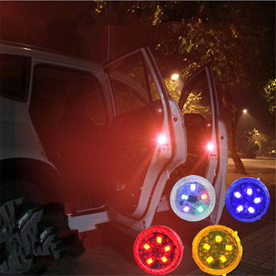 4PCS Car Door Warning Light LED Universal Waterproof Anti-collision