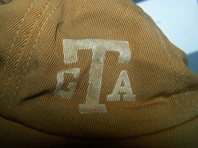 Vintage GA Tech Yellow Jackets Cap Hat 1958 football scores in ink Bobby Dodd