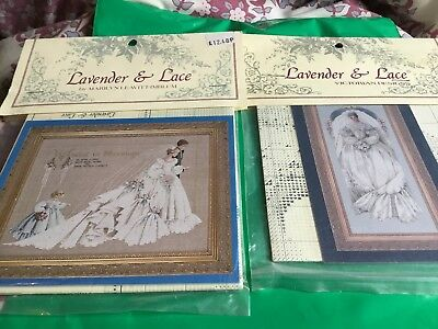 2 Lavender & Lace Cross Stitch Chart  White Lace & The Wedding