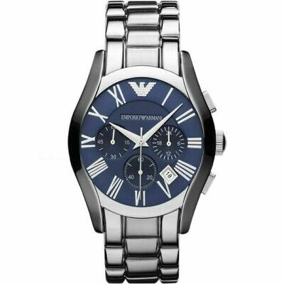 Emporio Armani Classic Gent's Watch AR1635│Chronograph Blue Dial│Stainless Strap