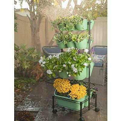Watex Mobile Vertical & Wall Planters Green Wall- Double Frame (Spring Bouquet)