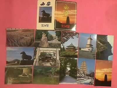 Postcard Set of Xi'An A Famous Chinese City