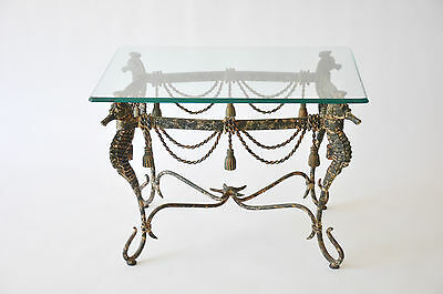Mid Century Iron Seahorse Table - New Reduced Price!!!