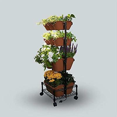 Watex Mobile Vertical & Wall Planters Green Wall- Double Frame (Terra Cotta)