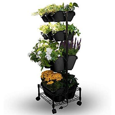 Watex Mobile Vertical & Wall Planters Green Wall- Double Frame (Black)