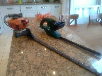 Stihl HS85 hedge trimmer + Wickes corded trimmer