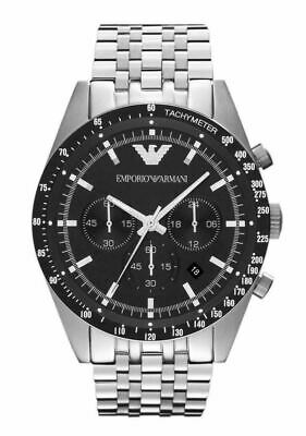 Emporio Armani Sportivo Men's Watch¦Chronograph Black Dial¦Stainless Band¦AR5988