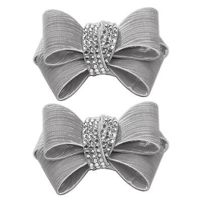 Shoelery Textured Triple Crystal Bow - Shoe Clips by Erica Giuliani