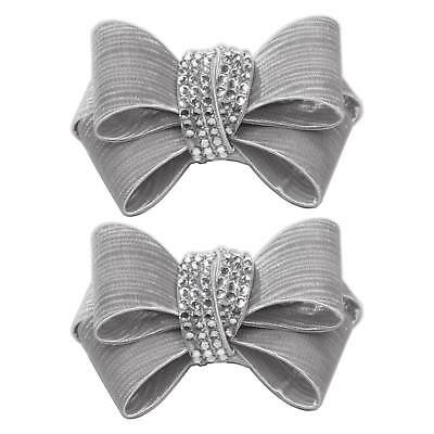 Shoelery Textured Triple Crystal Bow (pair) - Shoe Clips by Erica Giuliani
