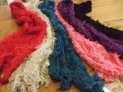 Fluffy magic scarves  job lot of 24 in 6 colours - closing down sale