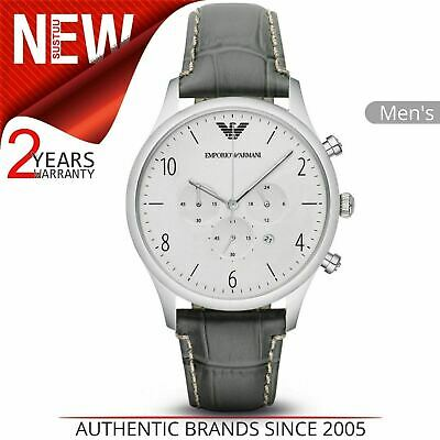 Emporio Armani Classic Men's Watch¦Chronograph Dial¦Croc Embossed Leather¦AR1861