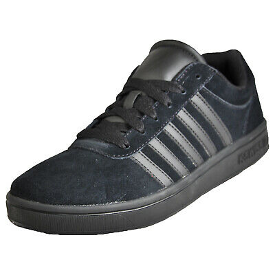 the latest 12ac8 b9444 K Swiss Court Cheswick Mens Leather Classic Casual Retro Fashion Trainers  Black