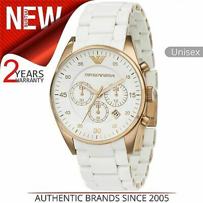 Emporio Armani Sportivo Men's Watch¦Chronograph White Dial¦Bracelet Band¦AR5919