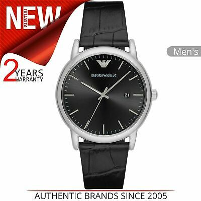 aa3f949f31d Emporio Armani Luigi Men s Dress Watch│Silver Case Black Dial   Strap│AR2500