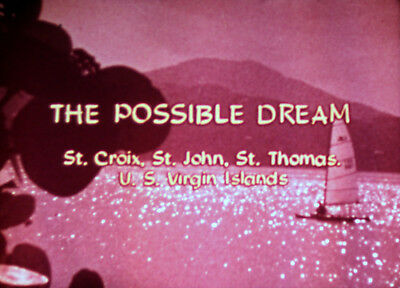 1960s Vintage 16mm 1100ft Promotional Film Documentary on the US Virgin Islands