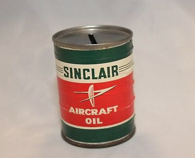Small Sinclair Aircraft Oil Can Bank