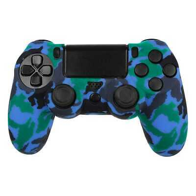 Funda de Silicona Gel Mando para Sony PlayStation PS4/Slim/Pro Camuflaje Azul