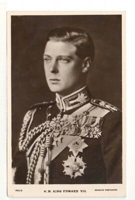 1937 Real Photo Postcard: King Edward VIII in Full Military Uniform