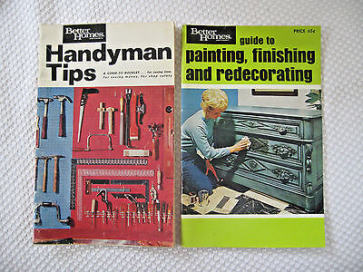 Vintage DIY how to books BETTER HOMES & GARDENS  VERY GOOD two books