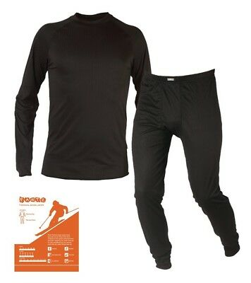 Junior Golf Kids Warm Thermal Base Layer Trousers & Top Set Under Armour Style