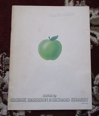 Beatles VINTAGE EARLY 69 U.S. WHITE ALBUM SONG BOOK WITH POSTER! GEORGE / RINGO
