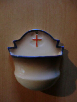 Vintage vessel for holy water with back marking of GOEBEL