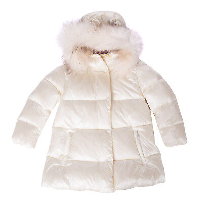 FREEDOMDAY Down Quilted Jacket Size 4Y Detachable Fur Trim Printed Inside Hooded