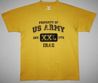 IRAQ Property of the US ARMY Shirt Size L Large Pre-Owned Very Nice!! Authentic!