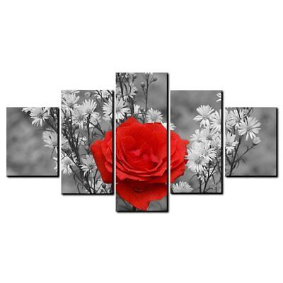 14270 LM Background Rose Wall Art Prints Canvas Painting Decorati ES