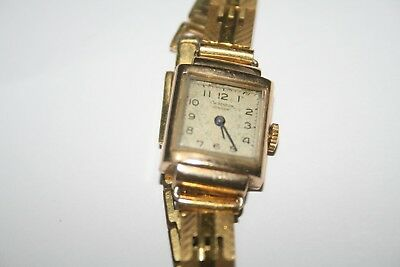 J W Benson Ladies Gold Watch Working Order London