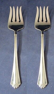 SET OF TWO - Oneida Stainless Flatware JUILLIARD Serving Forks * CUBE USA MADE