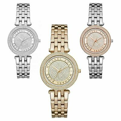 2da8e68509e3 Michael Kors Mini Darci Crystal Pave Dial Stainless Bracelet Formal Ladies  Watch