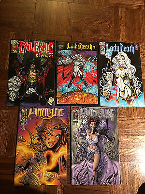 Witchblade Comic Series, Chaos Comics Lady Death, Evil Ernie, 21 in Plastic NIP
