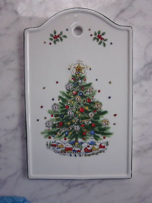 Vintage Salem Christmas Eve Porcelain Fine China Cheese Board Wall Plaque HANGS