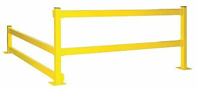 "Bluff Safety Yellow Steel Guard Rail Lift Out Mounting Style, 3 ft. 9"" Overall"