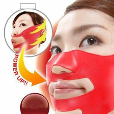 Silicone Face Slimming Mask V Shape Double Chin Tightening Bel ES
