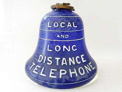 Rare 1910's Bell Telephone Advertising Lamp Shade Sign Train Station Hotel Lobby