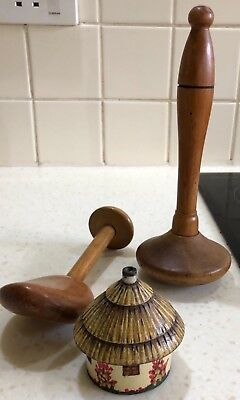 3 Antique/vintage Treen Items