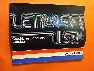 Letraset USA Graphic Arts Products Catalog 1973 Fonts & Graphic