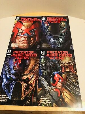 PREDATOR vs JUDGE DREDD vs ALIENS # 1- 4 / DARK HORSE COMICS / JUN 2017 /