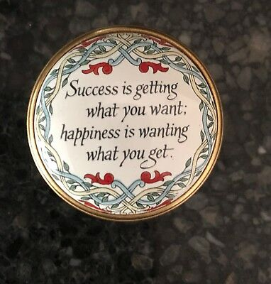 """Halcyon Days Enamel Box """"Success is getting what you want...."""