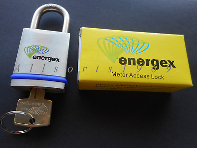 Genuine Energex Approved lock padlock 45mm solid brass stainless shackle 1 key