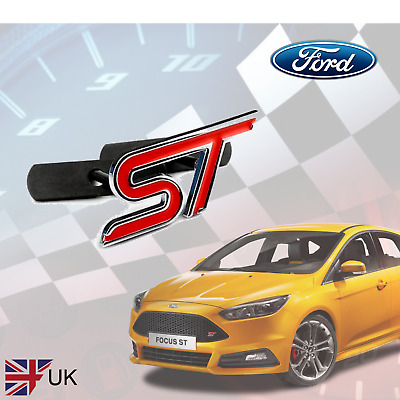 Genuine RED Metal Ford ST Zetec S Grill Badge For Fiesta/Focus