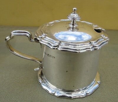 Antique George V sterling silver mustard pot & BGL, 112 grams, 1916