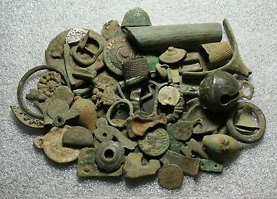 Job Lot of Metal Detecting Finds. Roman Medieval Tudor Coins and Artefacts.