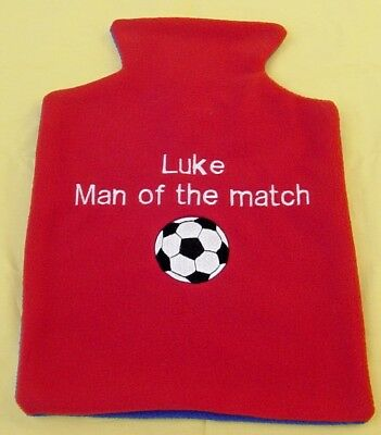 Personalised Football hot water bottle cover,Idea Birthday / Christmas  gift 1