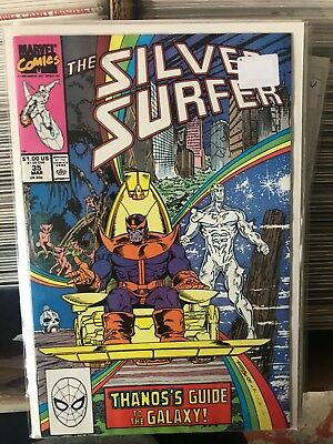 SILVER SURFER #35 NM- 1st Print THANOS APP Jim Starlin