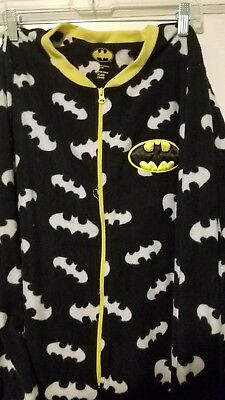 Unisex Adult Batman Onesy with Footed Pajamas Size XL Zippered Front