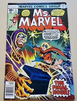 18-C1541: Ms. Marvel # 4, 1977, FN 6.0! Movie out March 2019! See Promo!