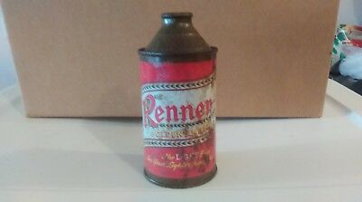 Old Vintage Renner Golden Amber Cone Top Beer Can!
